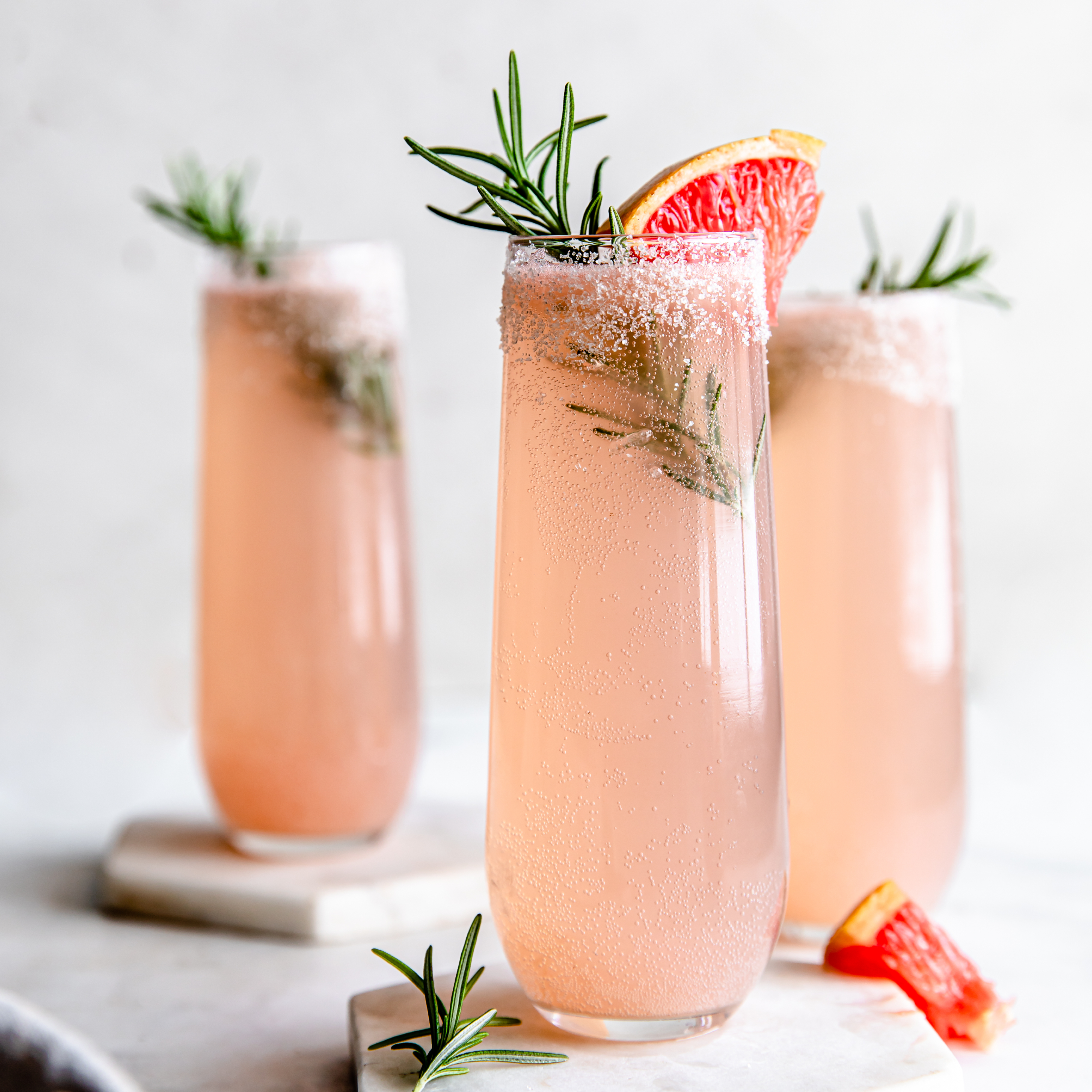 glasses of Grapefruit Cocktail made with an almond cow