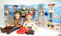 (879299) BUZZ LIGHTYEAR + (879312) JESSIE + (879305) WOODY REAL SIZE INTERACTIVE TALKING FIGURE