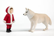 ANIA WHITE WOLF WITH SANTA BOY