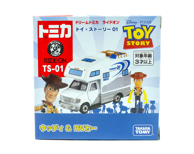 Dream Tomica Ride On Toy Story R01 Woody And RV Car