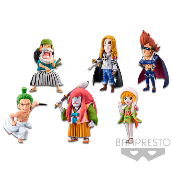 One Piece World Collectable Figure Wanokuni 4 (6 in 1) [16443]