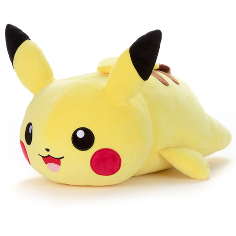 Pokemon Plush Mocchi L Pikachu  (On Stomach)