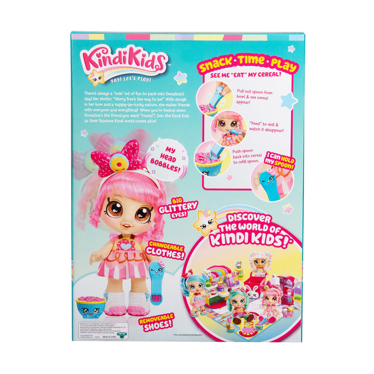 Kindi Kids KKS S1 Toddler Doll Snack Time Friends Donatina