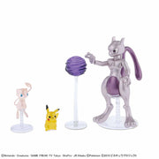 Pokemon Plamo Collection Mewtwo & Mew & Pikachu Set