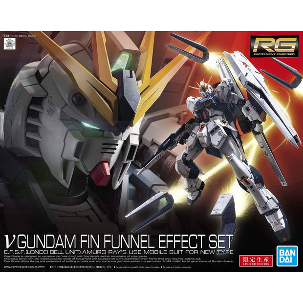 Rg 1/144 Nu Gundam + Fin Funnel Effect Set