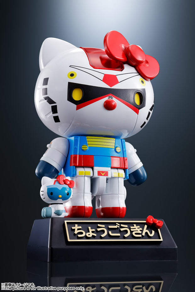 [Chogokin Hello Kitty Bundle] 59615 Chogokin Gundam Hello Kitty + 59616 Chogokin Char's Zaku II Hello Kitty