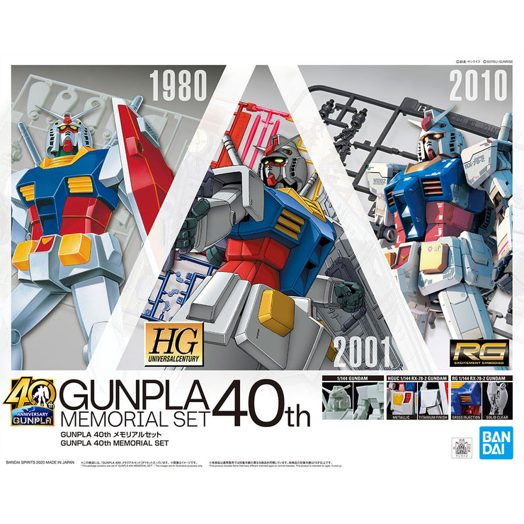 Gunpla 40th Memorial Set