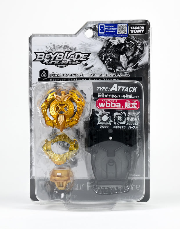 BEYBLADE BBG-02 STARTER XCALIBUR FORCE XTREME (B-00 LIMITATION)