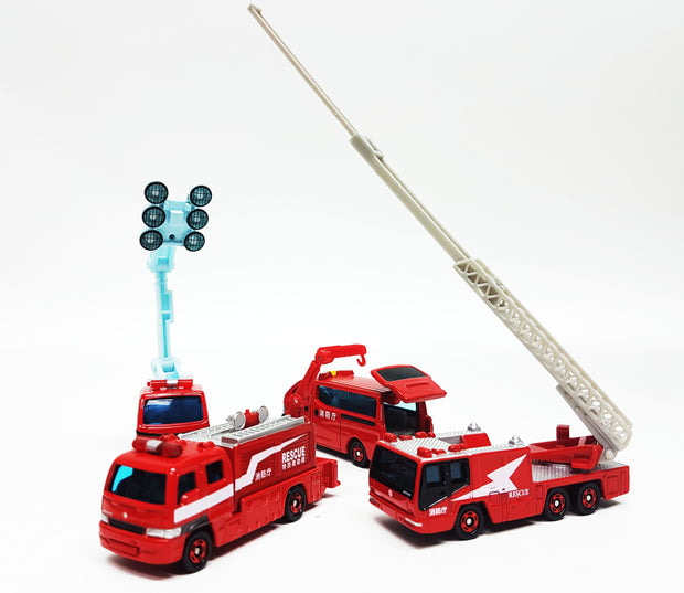TOMICA GIFT FIRE ENGINE COLLECTION SET 16 (4 CARS)