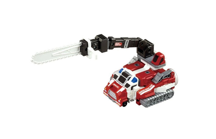 TOMICA DRIVE HEAD SUPPORT VEHICLE SET (HYPER BULLDOZER & CHAIN TOW)