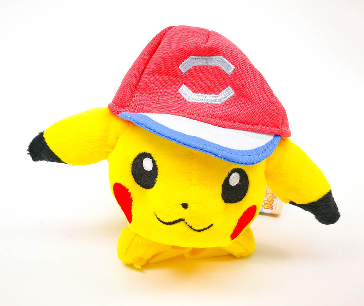 Pokemon S&M Plush Shoulder Pikachu Plush New Satoshi Cap Ver