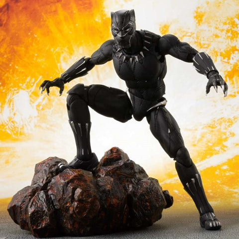 (PRE-ORDER) SHF BLACK PANTHER (Infinity War) & TAMASHII EFFECT ROCK