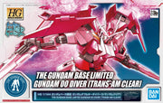 Hg 1/144 The Gundam Base Limited Gundam OO Diver (Trans Am Clear)