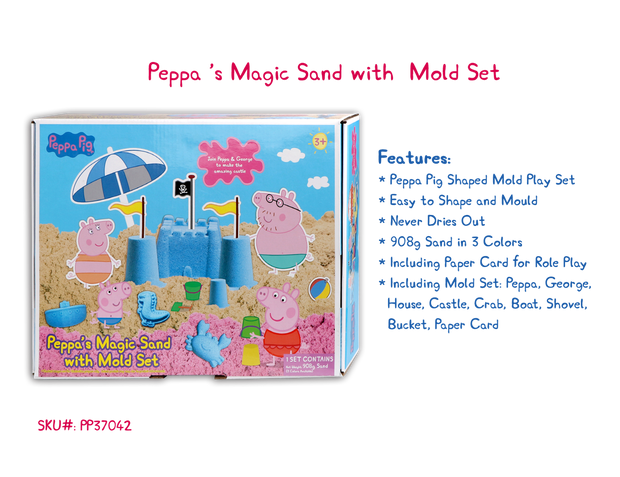 Peppa Pig Magic Sand with Play Mold Set