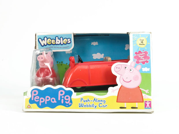 Peppa Pig Weebles Push Along Wobbily Car (Shelf Wear)