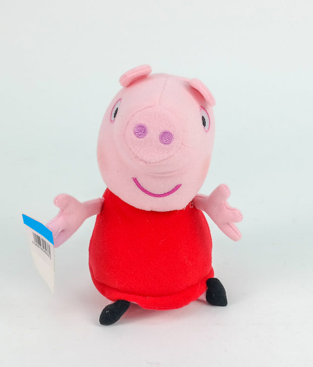 Peppa 6 Inch Red Dress Peppa And George In Blue Top Plush In CDU (w/o Sound) (Shelf Wear)
