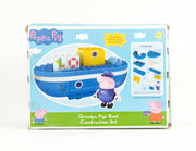 Peppa Construction - Grandpa Pig's Boat with Granpa & George Figure (Shelf Wear)
