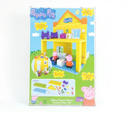 Peppa Construction - Deluxe Peppa House with Mummy And Peppa Figure (Shelf Wear)