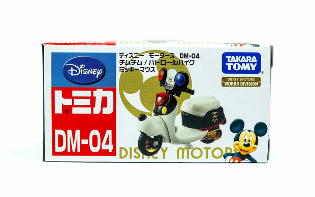 TOMICA DISNEY MOTOR DM-04 CHIMCHIM PATROL BIKE MICKEY MOUSE