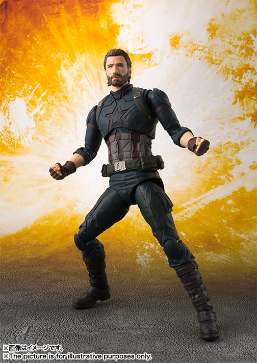 SHF Captain America (Avengers: Infinity War) & Tamashii Effect Explosion