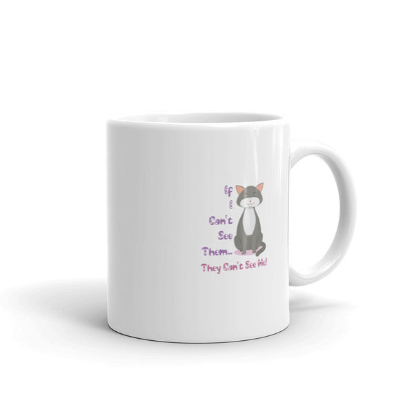 Cat Hiding Coffee Mug made in the USA