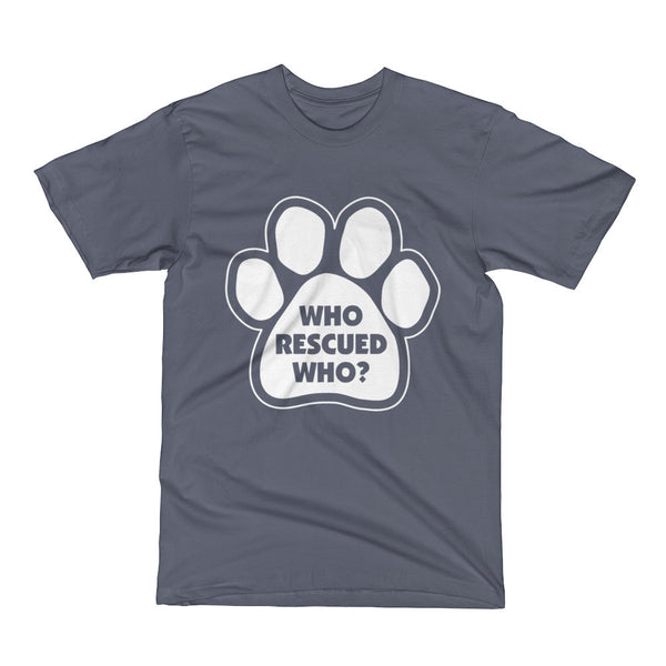 Who Rescued Who Cat and Dog Short Sleeve T-Shirt