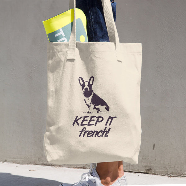 Keep It French Cotton Tote Bag