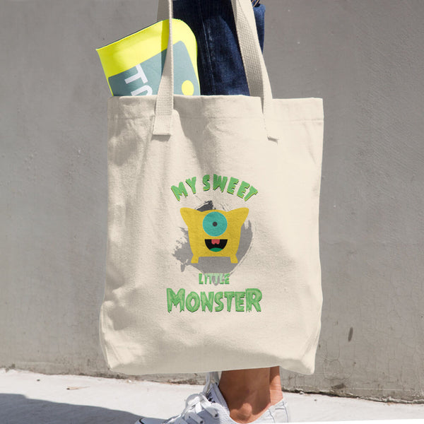 My Little Monster Cotton Tote Bag