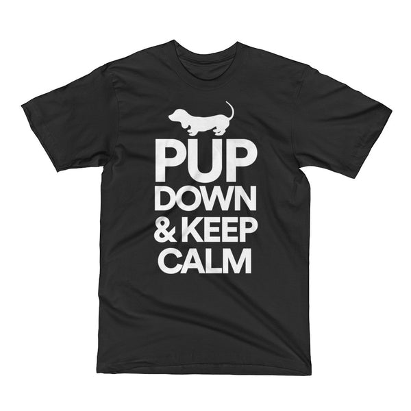 Pup Down and Keep Calm Dog Short Sleeve T-Shirt