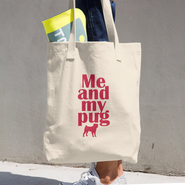 Me And My Pug Cotton Tote Bag