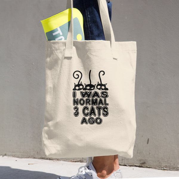Normal 3 Cats Ago Cotton Tote Bag
