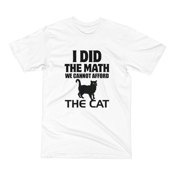 Cat Math; Dog Short Sleeve T-Shirt