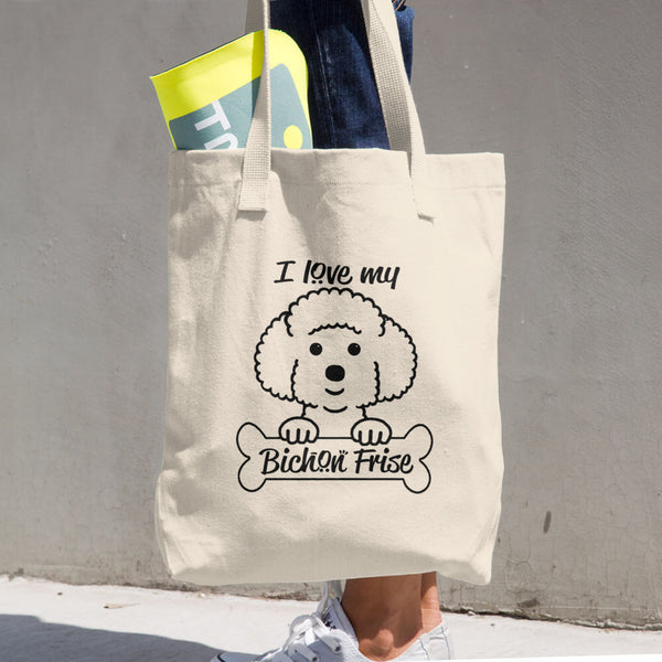 Bichon Cotton Tote Bag