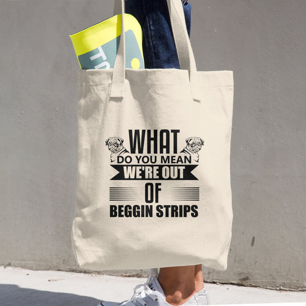 Beggin Strips Cotton Tote Bag