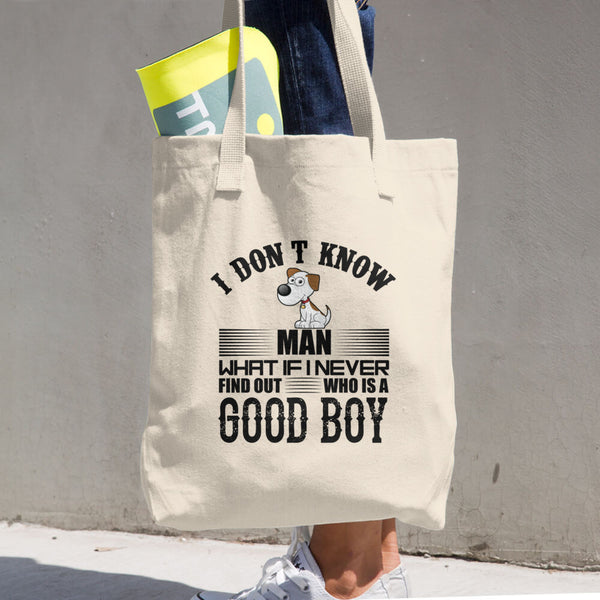 Good Boy Cotton Tote Bag