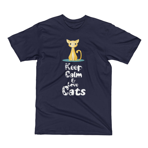 Keep Calm and Love Cats Short Sleeve T-Shirt