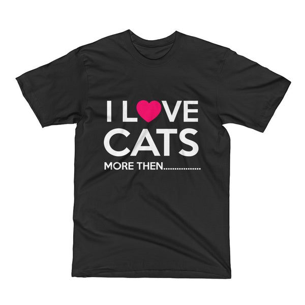 I Love Cats Short Sleeve T-Shirt