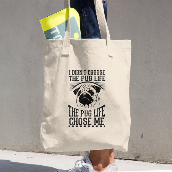 Pug Life Cotton Tote Bag