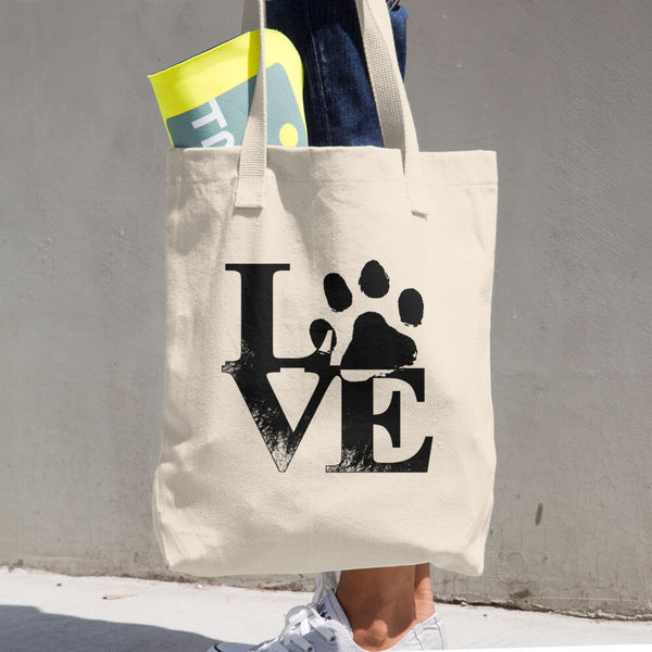 Love Paw Cotton Tote Bag