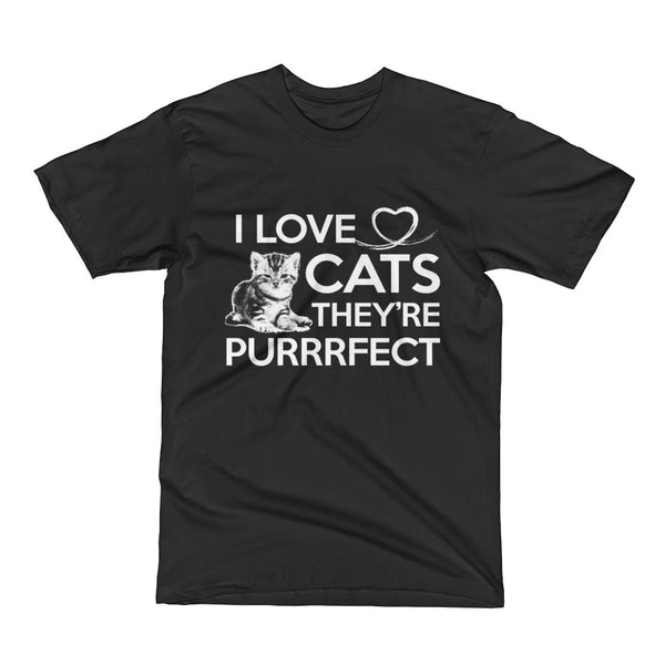 I Love Cats They're Purrfect Short Sleeve T-Shirt