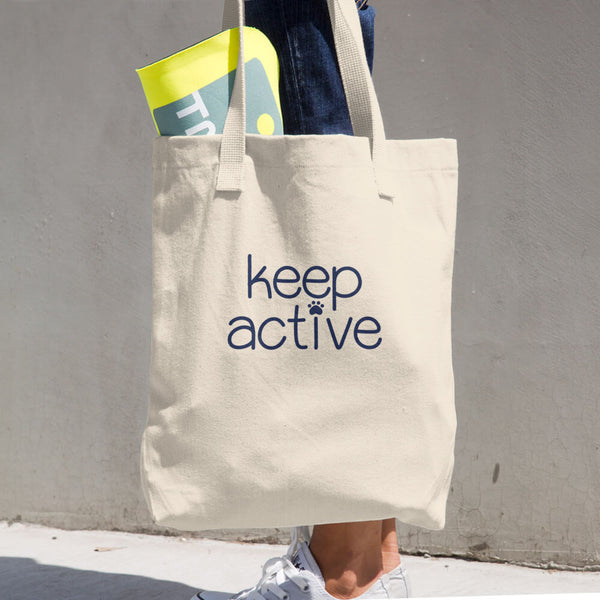 Keep Active Cotton Tote Bag