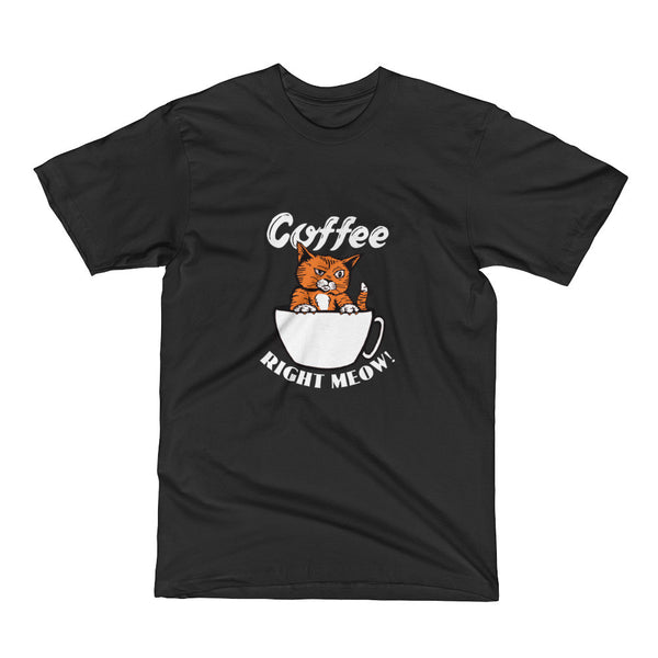 Coffee Right Meow Cat Short Sleeve T-Shirt