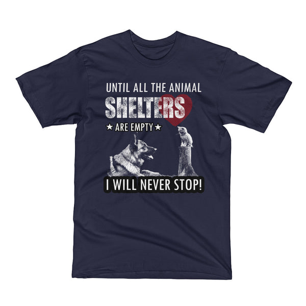 Cats and Dogs Animal Shelters Short Sleeve T-Shirt