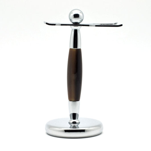 #25 Chrome Metal Shaving Brush and Razor Holder