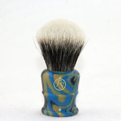 2 Band Finest Badger Hair Shaving Brush Faux Lapis Handle 26mm Knot FI26-LA33