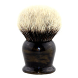 40MM 2 Band Finest Badger Hair Shaving Brush w/ Faux Golden Handle