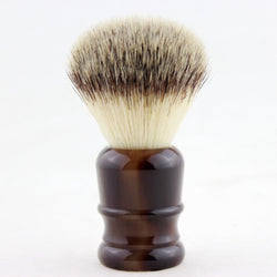 24MM Synthetic Fiber Shaving Brush Faux Horn Handle