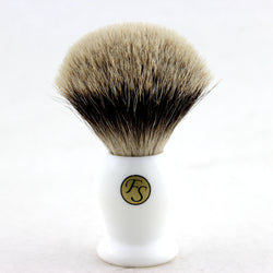 24MM 2 BAND FINEST BADGER HAIR SHAVING BRUSH FI24-WH10