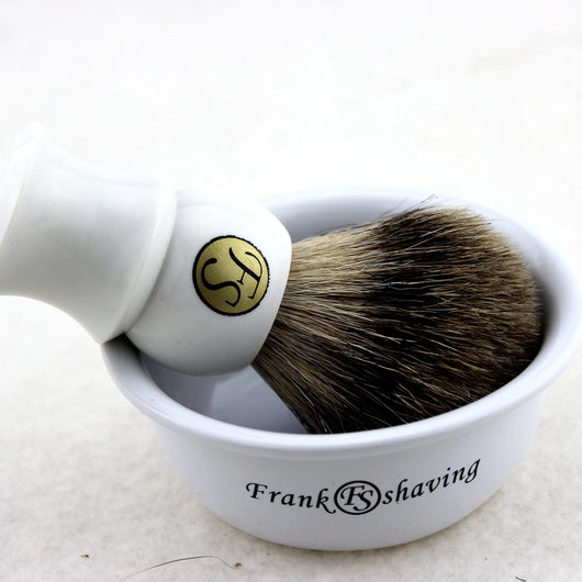 SHAVING SET/KIT BEST BADGER HAIR SHAVING BRUSH CERAMIC BOWL S20181111
