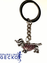 Crystal Dachshund Bracelet, Keychain, Necklace or Sets